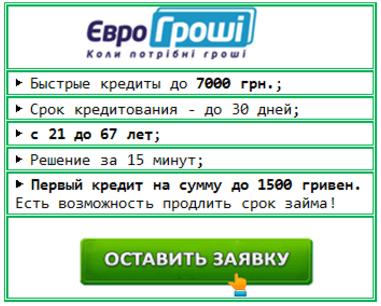 онлайн кредит в Eurogroshi