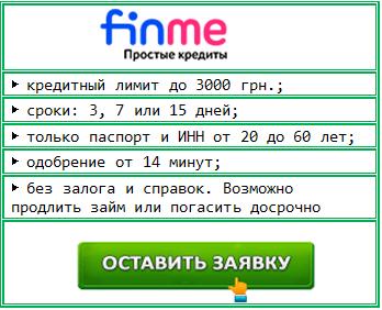 Финми- заявка на кредит без проверок