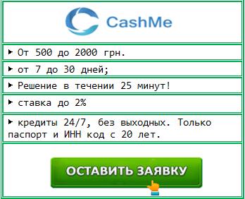 Cashme (Кешми) деньги до зарплаты онлайн